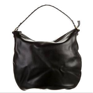 Versace Calf Leather Rivet Hobo bag
